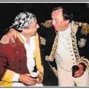 Napoléon et Patrick LION : une même passion de l'histoire (reconstitution du passage du Niémen par la Grande Armée en juin 2002)
